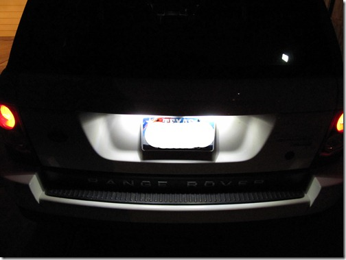 LED license plate lighting for range rover sport