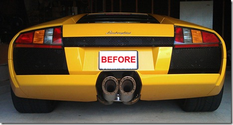 murcielago old taillights upgraded to 2007 model conversion